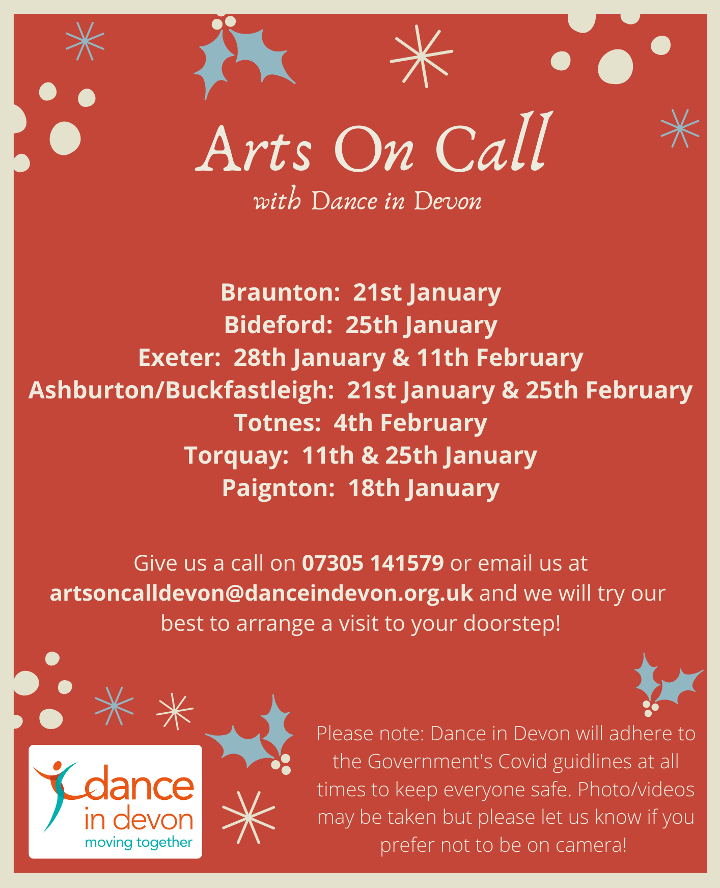 Arts On Call January 2