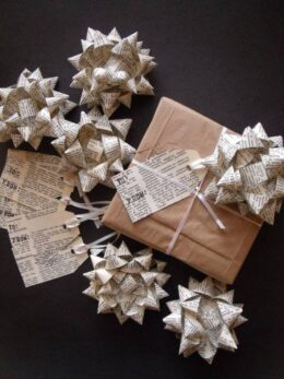 Upcycled Book Tags And Bows Etsy